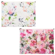 A4 Fashion Zip Wallets 2pk - Floral