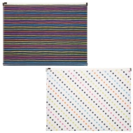 A4 Fashion Zip Wallets 2pk - Spots & Stripes