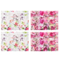 A4 Fashion Popper Wallets 4pk - Floral