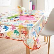 Kids Wipe Clean Tablecloth - Hands