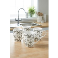 Printed Mugs 4pk - Butterfly