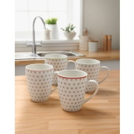 Printed Mugs 4pk - Hearts
