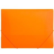 A4 Elasticated Document File 2pk - Orange