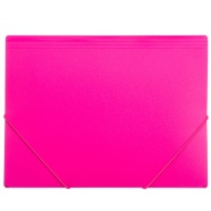 A4 Elasticated Document File 2pk - Pink