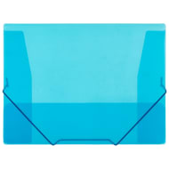 A4 Elasticated Document File 2pk - Blue