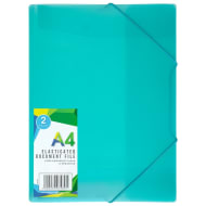 A4 Elasticated Document File 2pk - Green