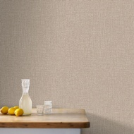 Graham & Brown Chenille Wallpaper - Bronze