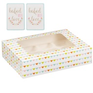 Great Bake Large Cupcake Box 2pk