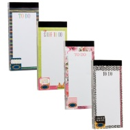 Fashion Magnetic Memo Pads 2pk