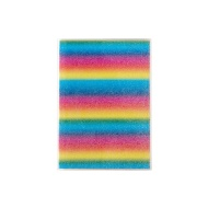 A5 Glitter Notebook - Rainbow Stripe