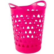Tall Flexi Laundry Basket - Pink