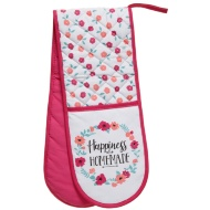 George Wilkinson Contemporary Double Oven Glove - Happiness is Homemade