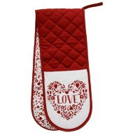 George Wilkinson Traditional Double Oven Glove - Love Hearts