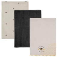 Karina Bailey Modern Tea Towels 3pk - Bee Happy