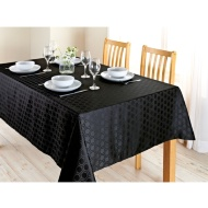 Karina Bailey Geo Jacquard Tablecloth 132 x 178cm - Black