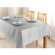 Karina Bailey Geo Jacquard Tablecloth 132 x 178cm - Grey