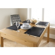 Karina Bailey Metallic Placemats 4pk - Black