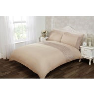 Lucia Satin Stripe Border Double Duvet Set