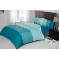 Colour Block Pintuck Complete Bed Set Double