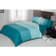 Colour Block Pintuck Double Duvet Set