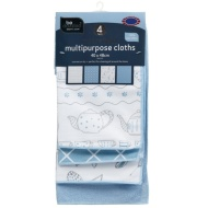 Multipurpose Jumbo Microfibre Cloths 4pk