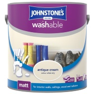 Johnstone's Washable Matt Paint - Antique Cream 2.5L