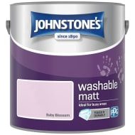 Johnstone's Washable Matt Paint - Baby Blossom 2.5L