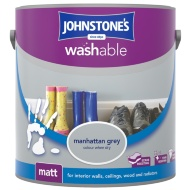 Johnstone's Washable Matt Paint - Manhattan Grey 2.5L