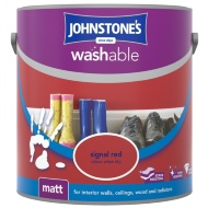 Johnstone's Washable Matt Paint - Signal Red 2.5L