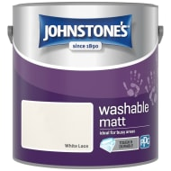 Johnstone's Washable Matt Paint - White Lace 2.5L