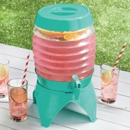 Collapsible Drinks Dispenser 5.4L - Green
