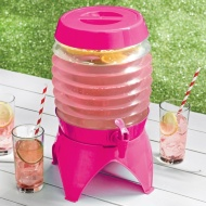 Collapsible Drinks Dispenser 5.4L - Pink