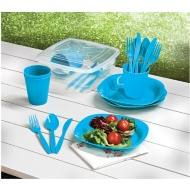 Picnic Dining Set 21pc - Blue