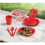 Picnic Dining Set 21pc - Red