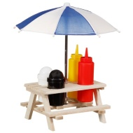 Picnic Bench Condiment Set