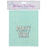 Paper Treat Bags 20pk - Party Time