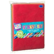 Hobby World Funky Felt Sheets 24pk