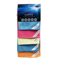 Assorted Microfibre Cloths 5pk