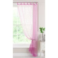"Popsicle Tab Top Voile Curtain 54 x 88"" - Pink w/ Spots"