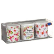 Spring Candle Votives 3pk - Summer Berry