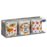 Spring Candle Votives 3pk - Spring Flowers