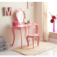 Amelia Vanity Set with Stool & Mirror