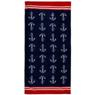 Printed Beach Towel 75 x 150cm - Anchor