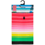 Printed Beach Towel 75 x 150cm - Ombre Melon