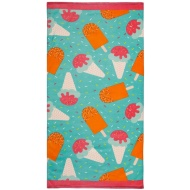 Printed Beach Towel 75 x 150cm - Ice Cream