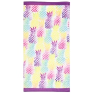 Printed Beach Towel 75 x 150cm - Pineapple
