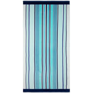 Printed Beach Towel 75 x 150cm - Aqua Stripe