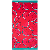 Printed Beach Towel 75 x 150cm - Watermelon