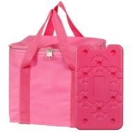 Cool Bag with Ice Pack - Pink