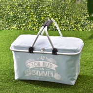 Foldable Picnic Basket - Blue